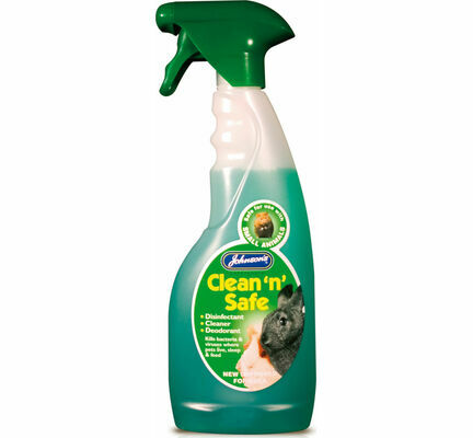 Johnson\'s Clean N Safe Disinfectant/Cleaner For Small Animals 500ml