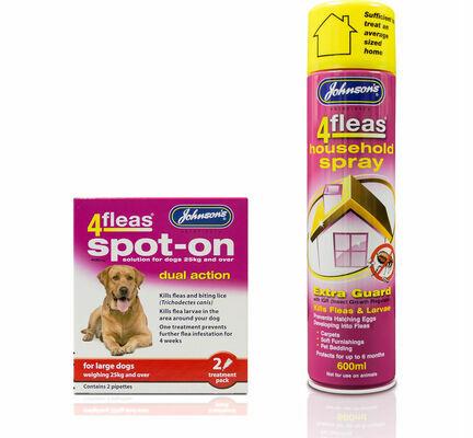 Johnson's 4fleas Dog Flea Treatment Bundle (Large Dogs Over 25kg)
