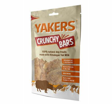 Yakers Crunchy Bars Natural Dog Treats