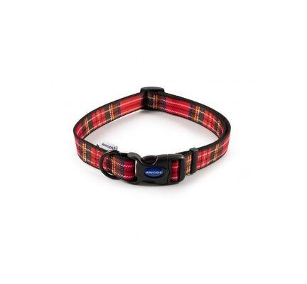 Ancol Heritage Adjustable Dog Collar Tartan Red