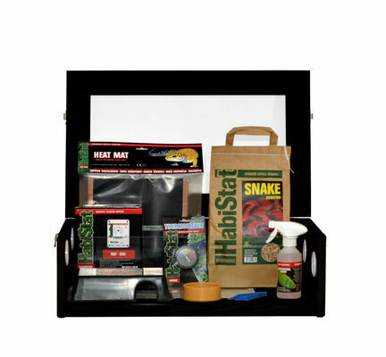 HabiStat Hatching Snake Starter Kit in Black