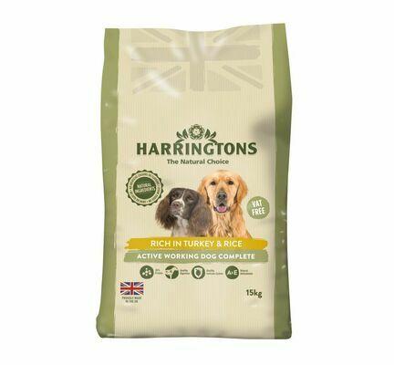 Harringtons Active Worker Turkey Dog Food 15kg
