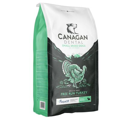 Canagan Dental Grain Free Turkey Dry Dog Food for Small Breed Dogs