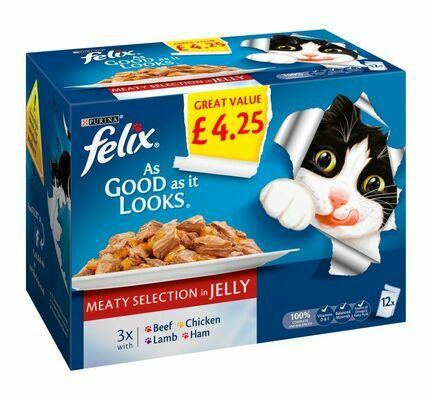 Felix As Good As It Looks Meaty Selection In Jelly 100g