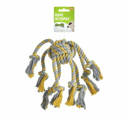Simply Pet Rope Octopus Dog Toy