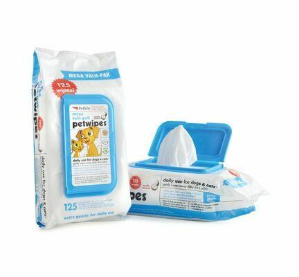 Petkin Pet Wipes Mega Value Pack (125 Pack)