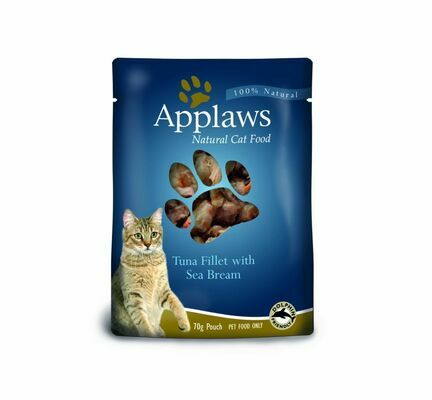 12 x Applaws Cat Pouch Tuna with Seabream 70g