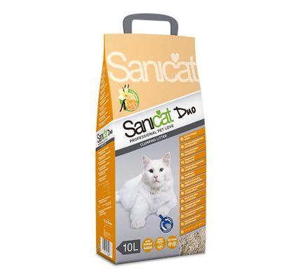 Sanicat Duo Vanilla & Mandarin Clumping Cat Litter 10 Litre