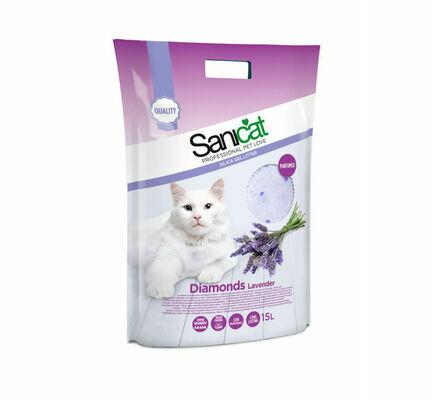 Sanicat Diamonds Lavender Silica Cat Litter 15L
