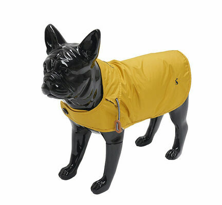 Joules Mustard Dog Raincoat
