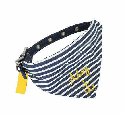 Joules Ahoy Dog Bandana Collar