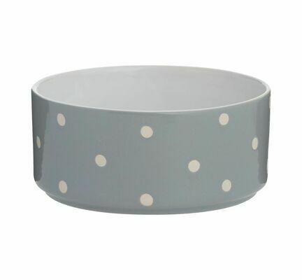 Mason Cash Polka Dot Grey Dog Bowl