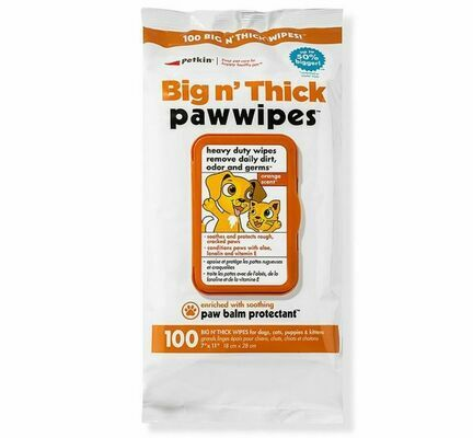 Petkin Big n Thick Paw Wipes (100 Pack)