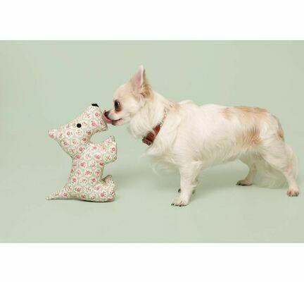 Cath Kidston Provence Rose Tough Cotton Canvas Stanley Plush Dog Toy