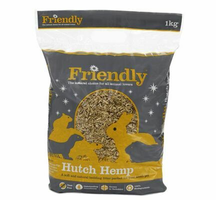 Friendship Estates Friendly Hutch Hemp Bedding 1kg