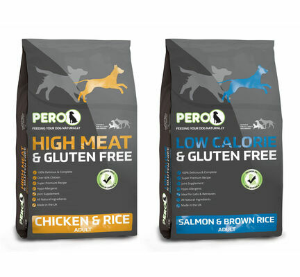 2 x 12kg Pero High Meat Chicken & Low Calorie Salmon Dry Dog Food