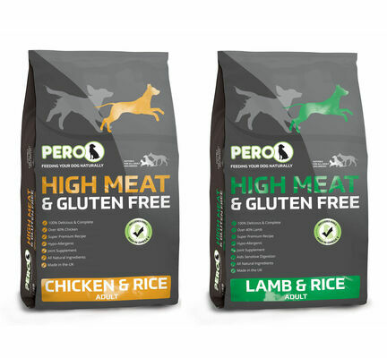 2 x 12kg Pero High Meat Chicken & Lamb Dry Dog Food