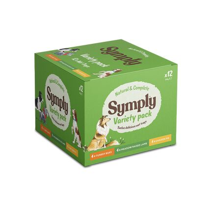 12 x 395g Symply Variety Pack With Rice Dog Food