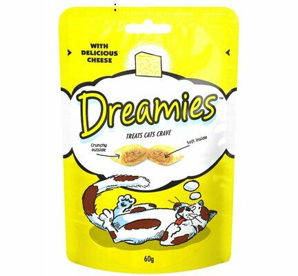 8 x 60g Dreamies Cat Treats With Cheese