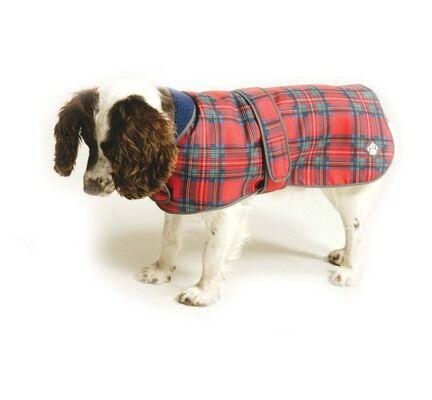 Danish Design Royal Stewart Red Tartan Fleece Lined Dog Coat