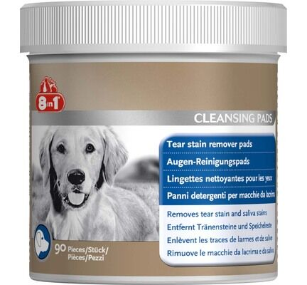 8in1 Dog Tear Stain Remover Coat Clensing Pads - 90 Pack