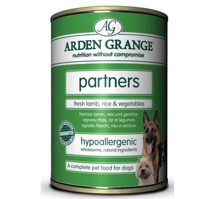 24 x 395g Arden Grange Partners Fresh Lamb, Rice & Vegetables Wet Dog Food