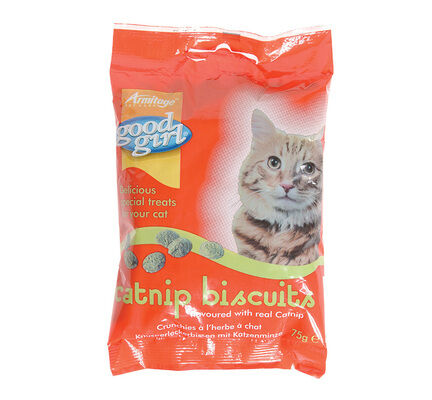 12 x Good Girl Catnip Biscuits 75g