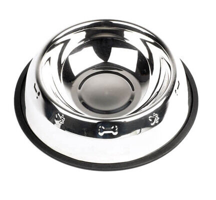 Mayfield Stainless Steel Embossed Dog Bowl