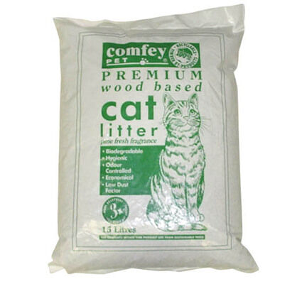Comfey Pet Premium Wood Based Cat Litter