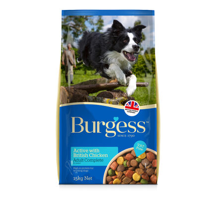 Burgess Active Dog British Chicken and Beef Complete 15kg