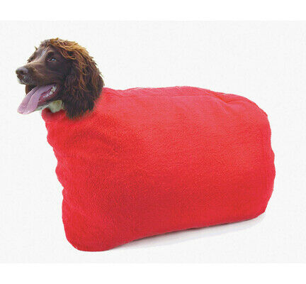 Red Pennine Dog Drying Bag