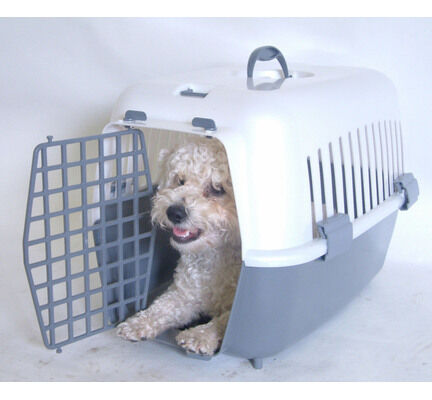 Pennine Plastic Pet Dog Carrier With Gate