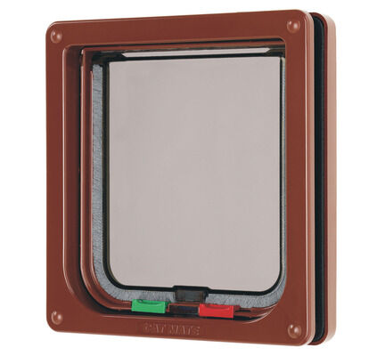 Cat Mate 4 Way Lockable Cat Flap Brown