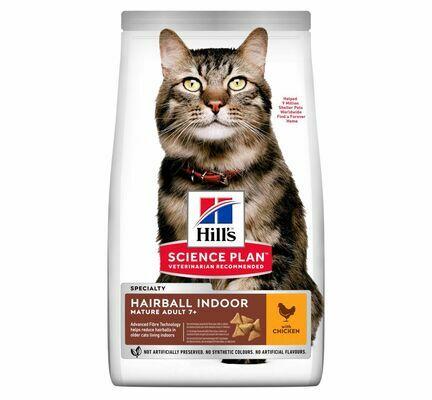 Hill's Science Plan Feline Hairball & Indoor Mature Adult Senior 7+ - 1.5kg