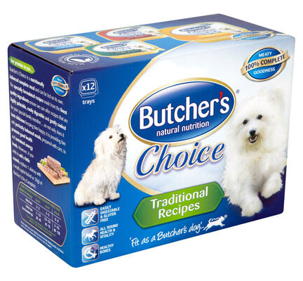 36 x 150g Butcher's Choice Traditional Recipes Dog Food Multipack