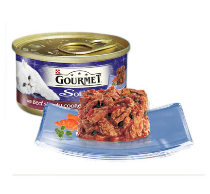 12 x 85g Gourmet Solitaire With Beef In Tomato Sauce