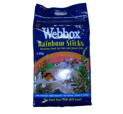 Webbox Rainbow Sticks Floating Koi & Pond Fish Food