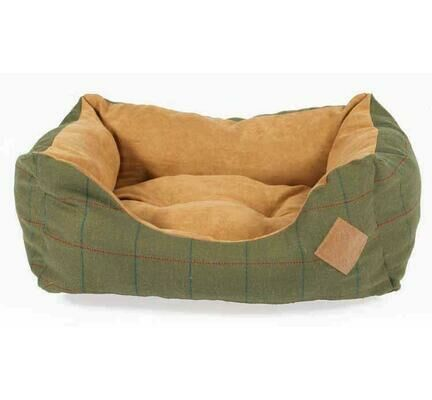 Danish Design Green Tweed Rectangular Snuggle Dog Bed