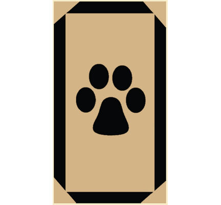 Pet Rebellion Stop Muddy Paws Single Print Brown 45x100cm (18x39