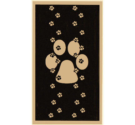 Pet Rebellion Stop Muddy Paws Single Print Black 45x100cm (18x39