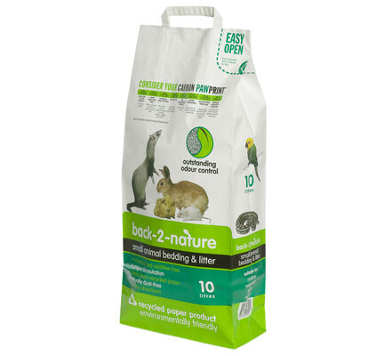 Back-2-Nature Recycled Paper Eco Friendly Small Animal Bedding & Litter