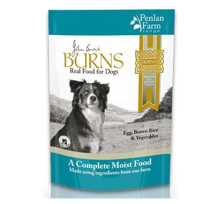 6 x 400g Burns Penlan Farm Complete Egg, Rice & Veg Wet Dog Food Pouch