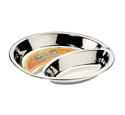 410ml Caldex Classic Stainless Steel Non Slip Twin Feeder Dog Bowl