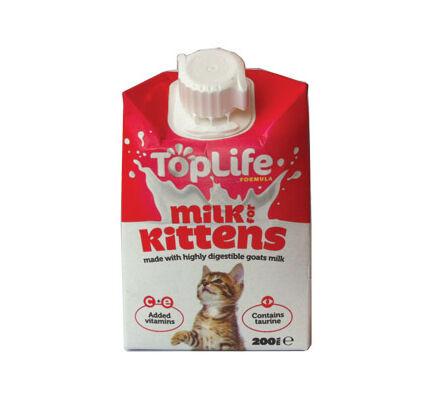 18 x TopLife Formula Kitten Milk 200ml