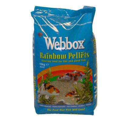 Webbox Rainbow Pellets Floating Fish Food For Koi & Pond Fish 10kg