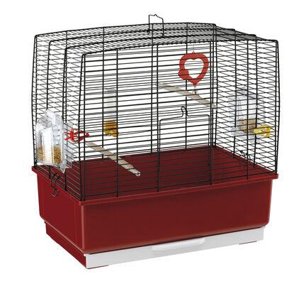 Ferplast Rekord 3 Bird Cage Black & Red 49x30x48.5cm