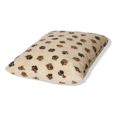 Danish Design Cream & Brown Fleece Paw Deep Duvet Dog Bed