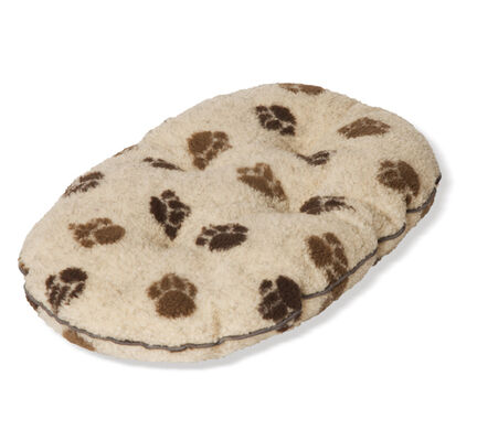 Danish Design Fleece Paw Cream & Brown Quilted Mattress