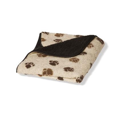 Danish Design Fleece Paw Cream & Brown Fleece Blanket
