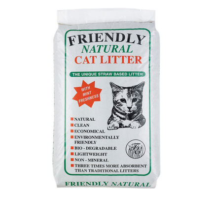 Friendship Estates Friendly Natural Straw Based Cat Litter - 20kg